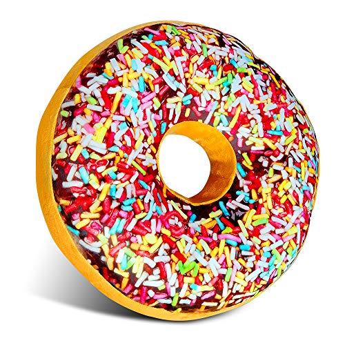 Adkwse Donut Kissen,Zierkissen, Soft Sitzkissen,Kopfkissen, Kuschelkissen,Dekokissen, Sofakissen, Plüschkissen, Weich,Flauschig-für Jede Gelegenheit Dekorative Kissen (Braun)