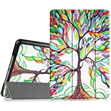 Fintie iPad mini 4 Funda - Ultra Slim Fit Smart Case Funda Carcasa con Stand Función y Auto-Sueño / Estela para Apple iPad mini 4 (2015 Versión), Love Tree