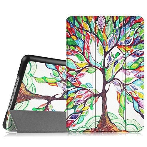 Fintie SlimShell Hülle für iPad Mini 4 - Ultradünn Superleicht Smart Stand Schutzhülle Cover Case mit Auto Schlaf/Wach Funktion, Liebesbaum
