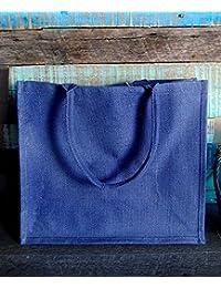 Pack Of 12 - Reusable Burlap Tote Bag Shopping Jute Bag TJ889