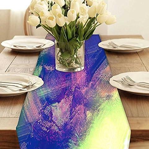 Snoogg Weird Draht Modern Digital Muster Tischläufer Poly Baumwolle Leinwand gedruckt Stoff Tisch Top Dekoration Home Decor 27,9x (Muster Draht)