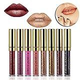 DE'LANCI Metallic Matt Flüssig Lippenstift Lip Gloss Wasserdicht Langlebig Lip