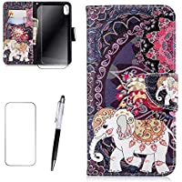iPhone 7/8 Hülle MISSDU Wallet Case Cover HandyHülle + Free Screen Protector, Touch Pen - Indischer Elefant