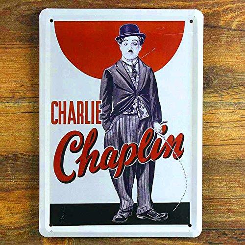 CHAPLIN Vintage Pintar pared placa de hierro art cafe bar Retro signos de estaño metal chapa de estaño decoracion 15*20cm envío gratis