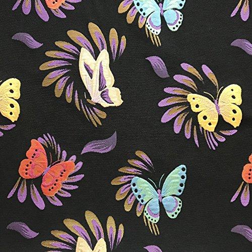 Premium Schmetterling Multi Metallic Brokat Kleid Stoff 152,4cm 150cm breit–Meterware (Chinesische Cheongsam Satin Kleid)