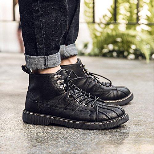 casual stivali moda maschile casual stivali martin sono arte retrò alto tempo martin stivali black