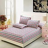 Jannyshop Spannbetttuch Elastische Bettlaken mit Gummizug aus Polyestergewebe, ohne Kissenbezüge