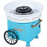 Machine barbe à papa professionnelle 450 W design chariot de carnaval bleu