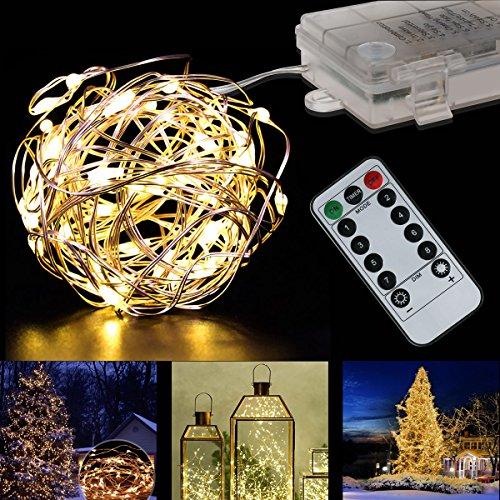 tte Dimmbar Kupferdraht Lichterketten Innen und Outdoor 5M 50 LEDs String Lights für Innen, Weihnachten, Garten, Hochzeit, Party ,Haus Dekoration (warmweiß) (Halloween Haus Dekoration Uk)
