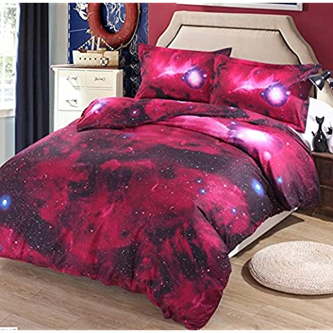 3D Nebulosa Stella dell'assestamento quattro pezzi Quilt Cover Bedding: 250 * 250 centimetri, federa: 48 * 74 centimetri * 2/50% cotone e 50% fibra di poliestere , 6