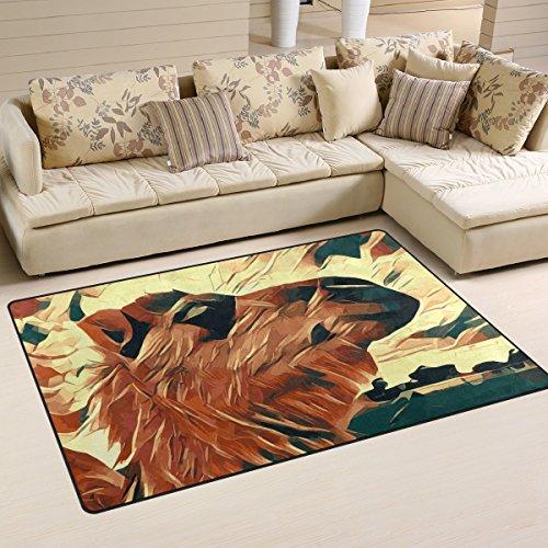 yibaihe, leicht, bedruckt mit Deko-Teppich, Teppich, modern Camel Bild zeigt stylized wasserabweisend stoßfest. Für Wohn- und Schlafzimmer, 153 x 100 cm -