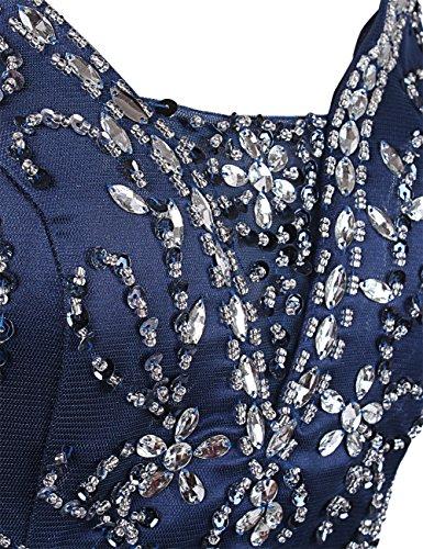 Dressystar Robe de soirée formelle/pour mariage Sirène /trompette, Sans Manches, en Tulle Raisin