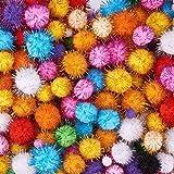 #4: Unobite Multicolor Glitter Pom Pom Balls 2.0 cm(100 Piece)