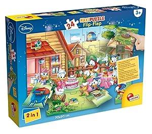 Lisciani Giochi 48403-Mickey Puzzle Maxi Flip Flap, 24Unidades