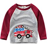 EULLA - Camiseta de Manga Larga para niño, algodón, diseño de Excavadora, Talla 92, 98, 104, 110, 116 122