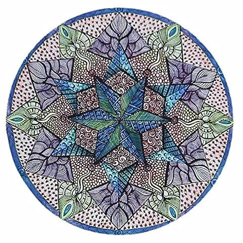 Ularma Rond Plage Serviette Yoga PIC-NIC Couverture Couvre-lit Imprimé Plage Serviette 16721 (E)