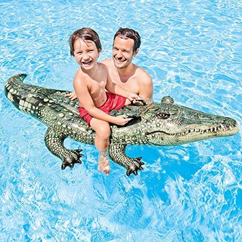 Limin Schwimmende Reihe Alligator Ride Erwachsene Wasser Aufblasbare Halterungen Kind Spieltiere Tier schwimmende Reihe