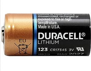 Duracell Lithium-Batterie Typ CR123, 1.400 mAh, Duralock, 10er-Pack