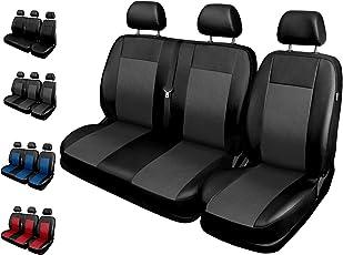 Sitzbezüge Auto 1+2 Transporter Universal Autositzbezüge Schonbezüge Vorne mit Airbag System Comfort - Grau