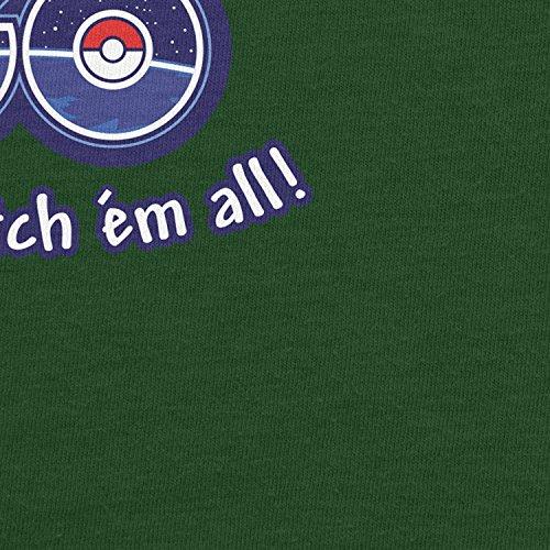 Planet Nerd - I'm on the GO - Herren T-Shirt Flaschengrün