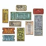 Sizzix Thinlits Set 6pk-ticket Booth von Tim Holtz, Carbon Stahl, mehrfarbig, 19,1x 14,4x 0,4cm
