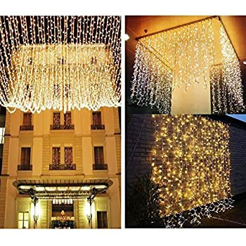 KNONEW LED String Lights    300LEDs Outdoor Indoor Window Curtain Icicle  Lights Fairy String Light For Wedding Party Home Garden Bedroom Christmas  Lighting ...