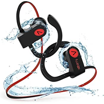 Écouteurs Bluetooth, Voberry Écouteurs Sans Fil Casque Bluetooth Stéréo Richer Bass HiFi Avec Microphone, 8 à 9 Heures D'écoute, Antibruit IPX7 Écouteurs Étanches, NANO Revêtement Pour Le Sport