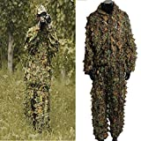 OUTERDO 3D Ghillie Suit woodland Tarnanzug Camo Camouflage Kleidung Jagd Free Size