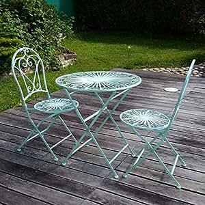 Htdeco - Fer forgé - Mobili da giardino in ferro battuto