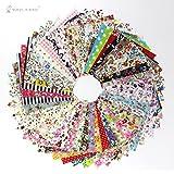 Raylinedo® 50PCS 10* 10cm Material de algodón tela PATCHWORK CRAFT BATIKS mixto plazas paquete