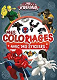 Spiderman, MES COLORIAGES AVEC STICKERS...