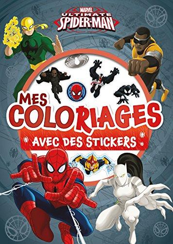 SPIDERMAN - Mes coloriages avec Stickers