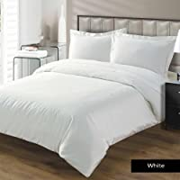 TheSignature Hotel Luxury 5Pcs Duvet Cover Set with Zipper Closure-800 Thread Count Egyptian Cotton Quality Ultra Soft Cotton Premium Bedding Collection -Cal-King/King Size White