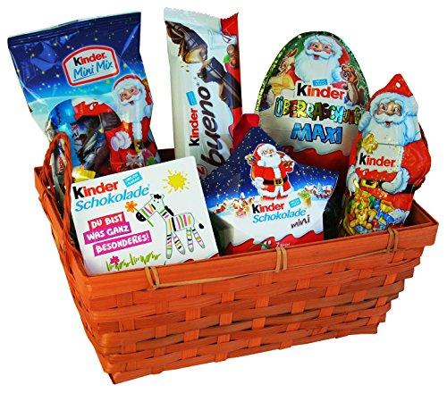 Geschenk Korb Weihnachten mit Ferrero Kinder Schokolade (6-teilig)