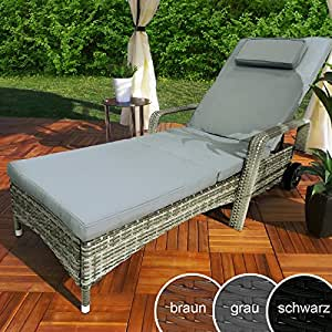 rattan garten liege relax polyrattan. Black Bedroom Furniture Sets. Home Design Ideas