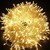 Fairy String Light, EONANT 10M 80 LED Lichterkette mit 2 Modus Arbeitsbeleuchtung Batterie Betrieben für Weihnachtsbaum Party Hochzeit Garten Dekorieren (Warm White)