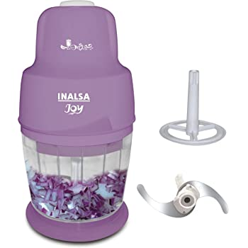 Inalsa Joy 250-Watt Mini Chopper (White and Purple)