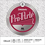 D\'Addario Bowed Corde seule (Sol) pour violoncelle D\'Addario Pro-Arte, manche 3/4, tension Medium