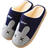 Zapatillas de Estar Zapatillas de Casa Mujer Hombre Invierno Interior Zapatos de Algodón Caliente Suave Antideslizante Slippe