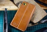 Akira Handmade Original Premium Echtleder Wallet Case für Sony Xperia Z5 Compact Braun