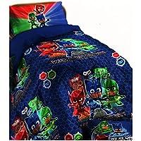 PJ Masks - Edredón de invierno con diseño de PJ Masks para cama individual de 170