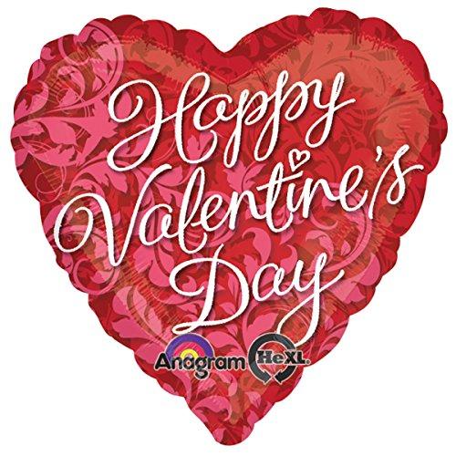 Amscan Standard-c Happy Valentinstag Elegante wirbelt Ballon