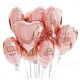 GRAND SHOP Foil Balloon, 5 Piece, Rose Gold
