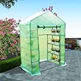 Compact Walk In Greenhouse with 6 Shelves by panana YX266