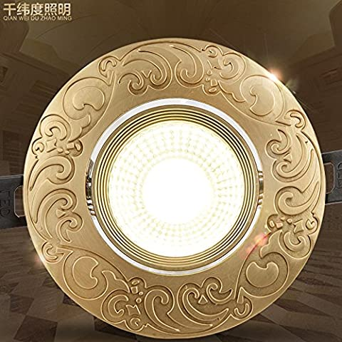 Via Light-Led luce spot vintage di rame continental 5W faretto