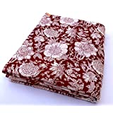 Flower printed cotton fabric 5 meter hand block print fabric printed in jaipur #2