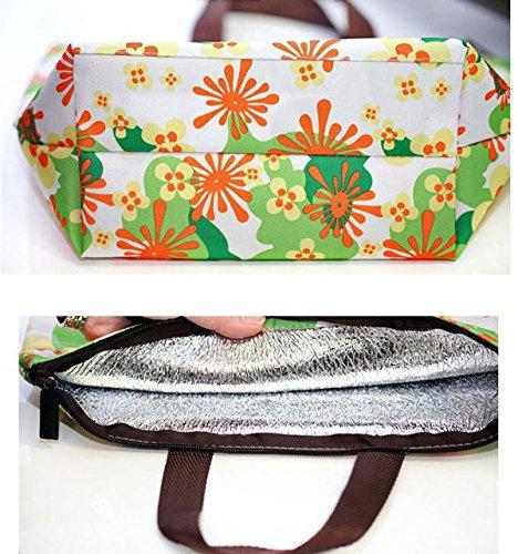 LGZOOT Impacchi Di Ghiaccio Stampa Oxford Una Borsa Di Ghiaccio Isolato Portatile Alluminio Pacchetto Di Isolamento Fresco 4,D C