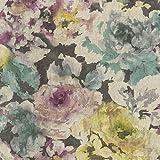 Tapete alte Rosen lila, 10,05 x 0,53m, Trägermaterial:Vlies, Rapportversatz in cm:30