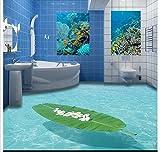 Chlwx 3D Wallpaper Benutzerdefinierte Wandbild Schönheit 3D Marine Indoor Stereo Badezimmer Wc Pvc-Tapeten Dekoration 200Cmx150Cm