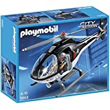 Playmobil - A1501456 - Jeu De Construction - Hélicoptère Avec Policier